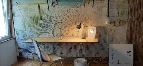 Hostel auf Langeoog:DZ (Bett 1,40 br.)Beachfeeling