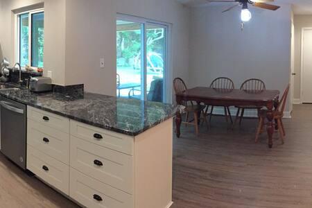 wide galley kitchen