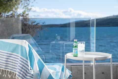 Luxe aan het water - Maisonette aan zee voor 5 personen