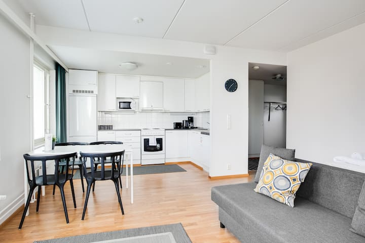 One Bedroom Apartment with Sauna and Parking Spot