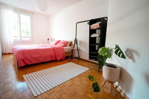 Lovely bedroom between Geneva & Lausanne
