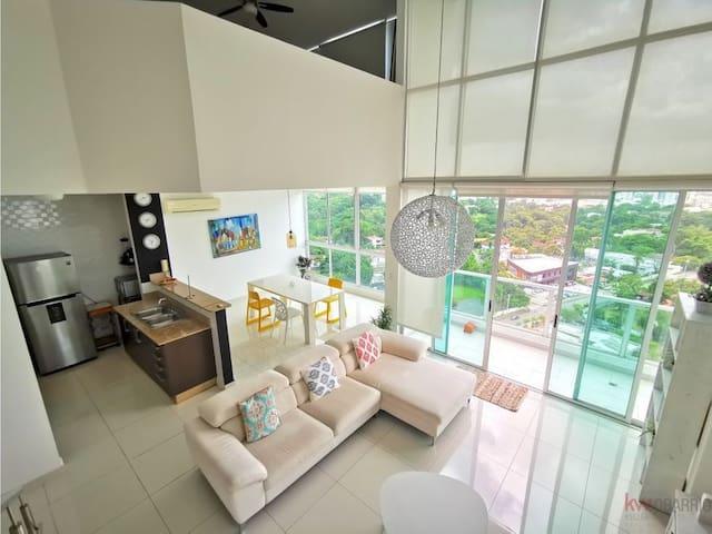 Bright and quite duplex Loft