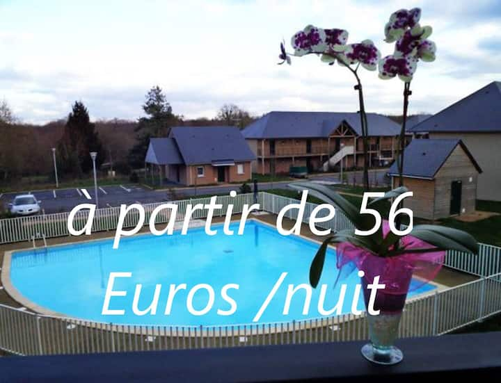 Le Fleur(H)on 11 d'Honfleur; Piscine Parking  WIFI