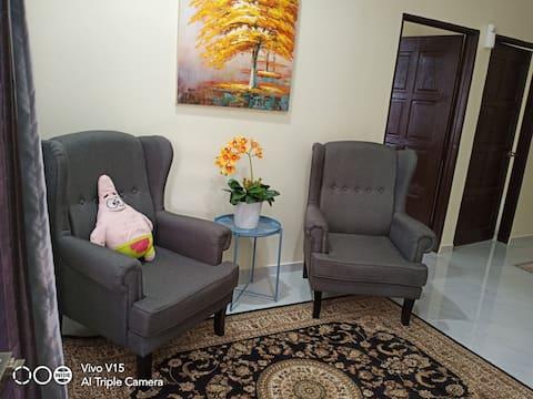 RSHill Homestay ruang bersama keluarga