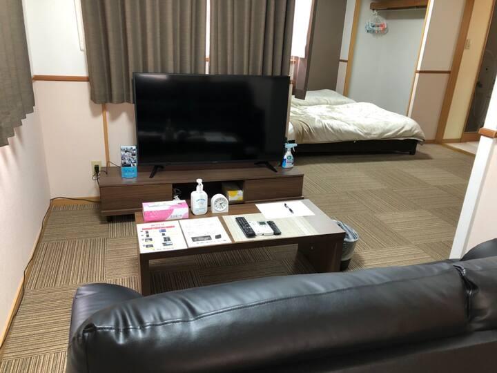 ツインルーム 【Netflix&Wi-Fi付】鹿児島中央駅徒歩5分