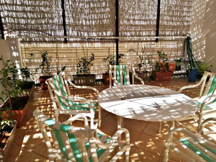 Hassan: Beautiful newly renovated flat + terrace
