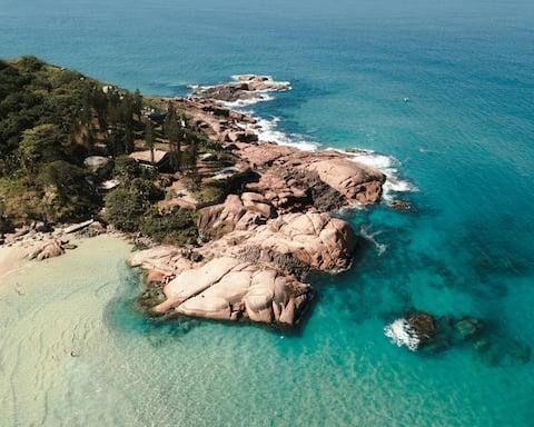 Joaquina House - Casa incrível na beira do mar