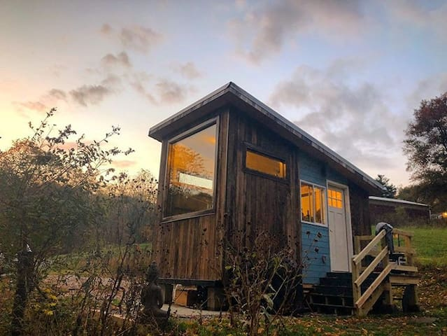 Woodsy Farm Getaway in a Tinyhouse