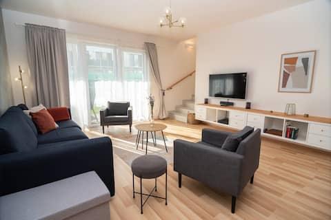 Moderne familiehus med 3 senger i Mikulov