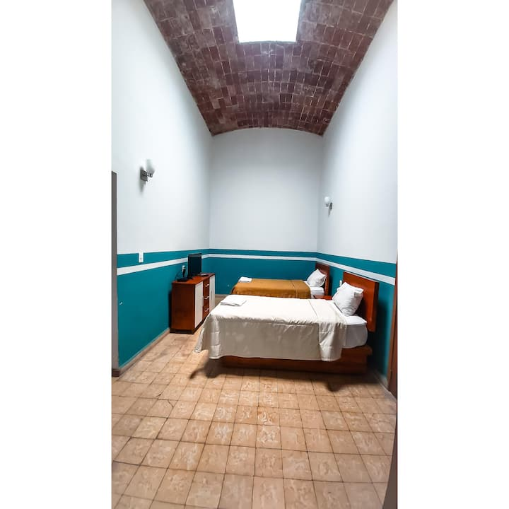 Doble  Room in the heart of downtown Puebla.