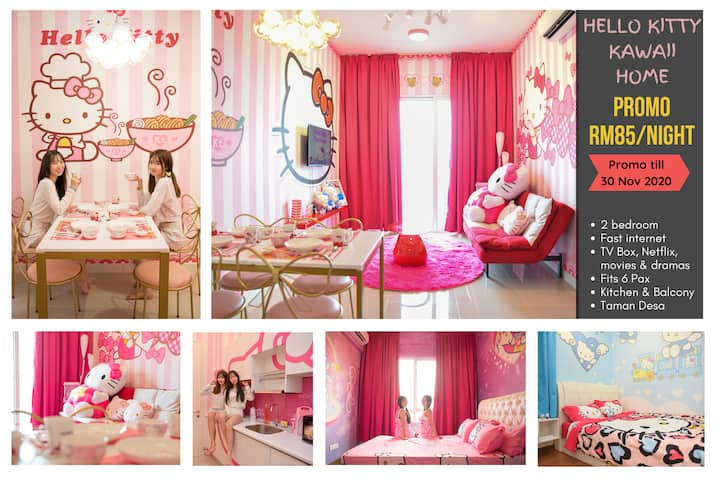 HELLO KITTY Home ♥ Fun & Cute, 5mins to Mid Valley