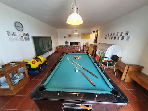 Villa Lola - Casa con Futbolín-Billar-Diana - 6pax