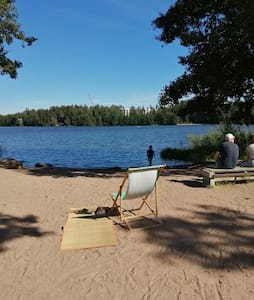 Picturesque Espoo Lakeview and Woodlands Apartment