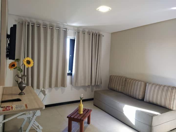 Flat mobiliado em hotel no centro de Eunapolis