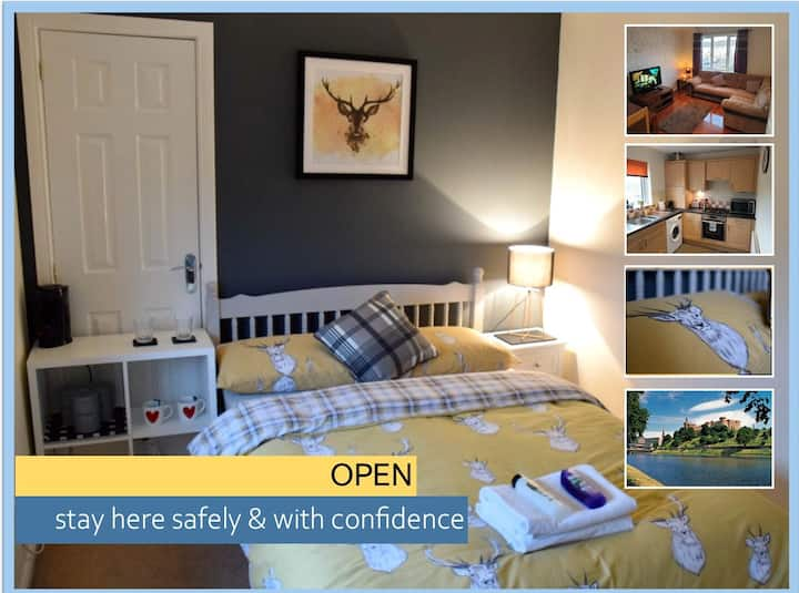 OPEN - 2 Bedroom Apartment, Inverness - 5min