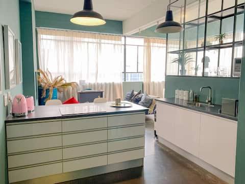 Designer Loft Studio Apartment in Maboneng