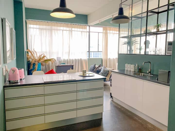 Designer Loft Studio Apartment in Maboneng