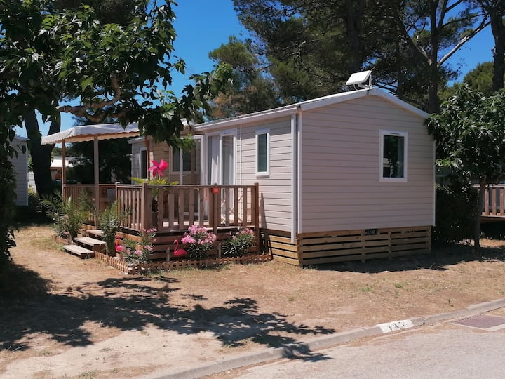 Air-conditioned mobile home 6 people Narbonne