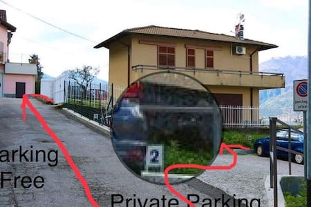 Only walking from parking to Bellavista house max 250 metres