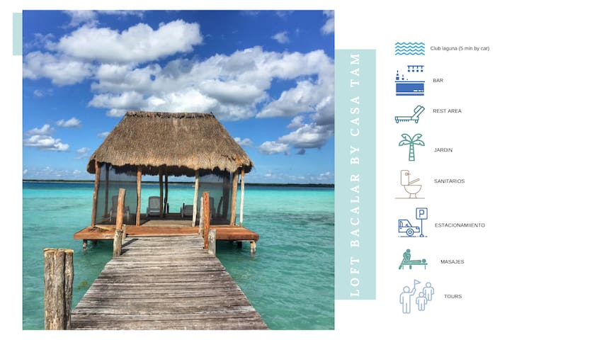 LOFT BACALAR, acceso club laguna, comodidad+wifi