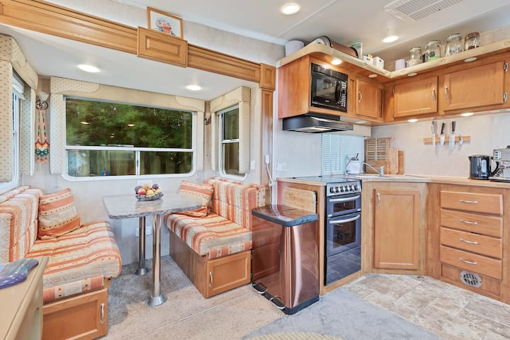 Cosy American RV with epic views