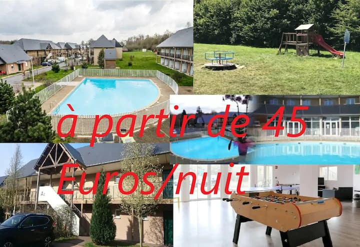 Studio Les Hauts de Honfleur  WIFI Parking  Pool