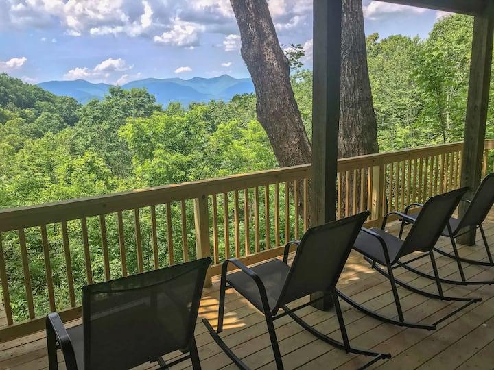 Chestnut Ridge, a scenic Black Mountain home