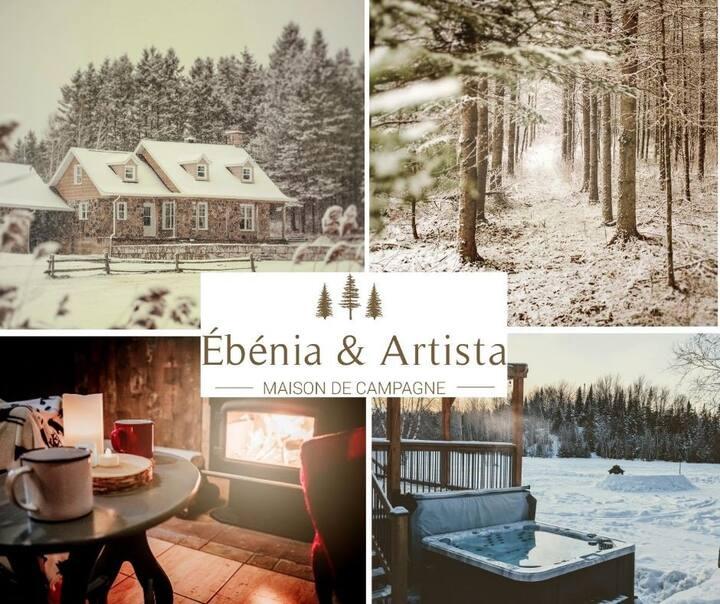 Chez Ébénia & Artista, maison de campagne
