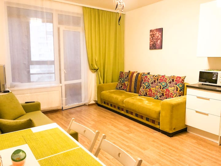 Marsel apartment by Lakhta Center, St.Petersburg
