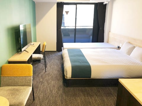3 nights or more/Queen Single Room/Kyoto station