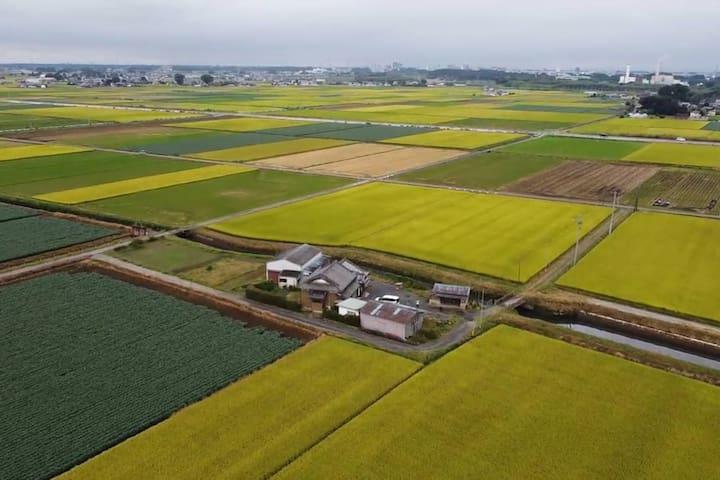 【貸切】田んぼのまん中の古民家「まなかのいえ」 工事中につき割引2021年1月~3月
