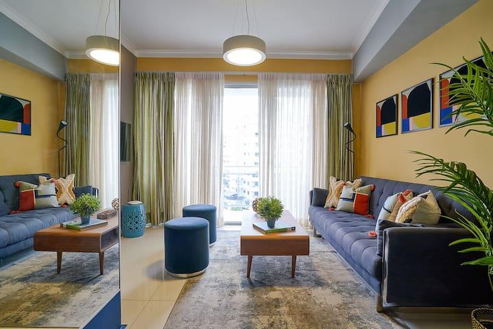 Livingroom, and the door to the balcony