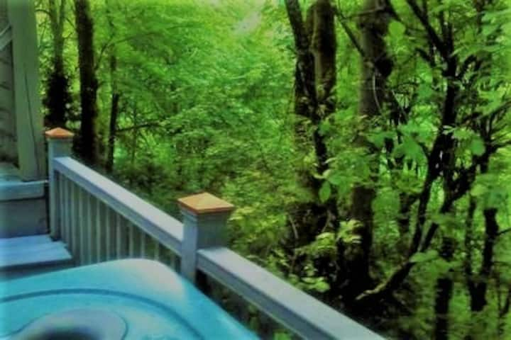 A Spa With a View:  A Modern Treehouse 1 BR Suite