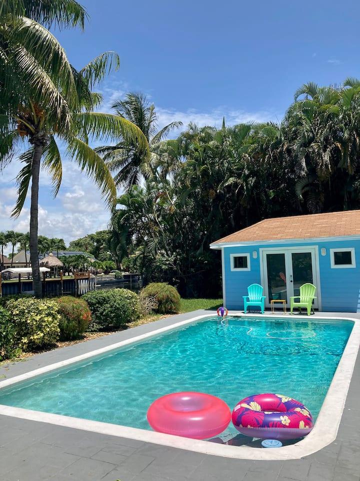 Tropical Oasis w/ Pool Near Beach & Atlantic Ave