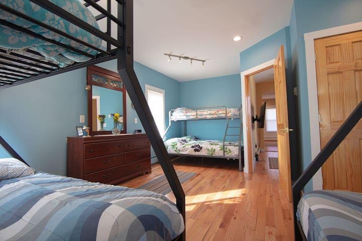 2nd Floor Bunk Room with 3 Twin over Queen beds
