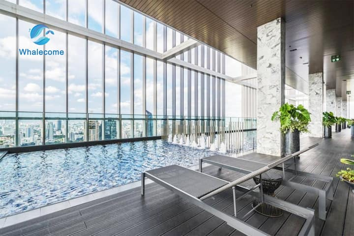 P6】Luxury Apartment in Phromphong & Sky pool+gym