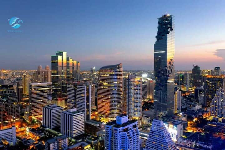 K3】Sathon Luxury 1BR Sky pool&Gym MahaNakhon view