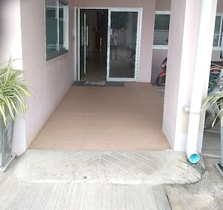 Entrance to complex, wheelchair accessible.