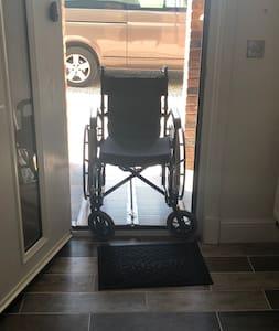 Ramp allowing easy access through front door