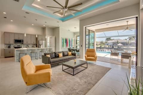 Villa Sensation, new custom pool home, pool table