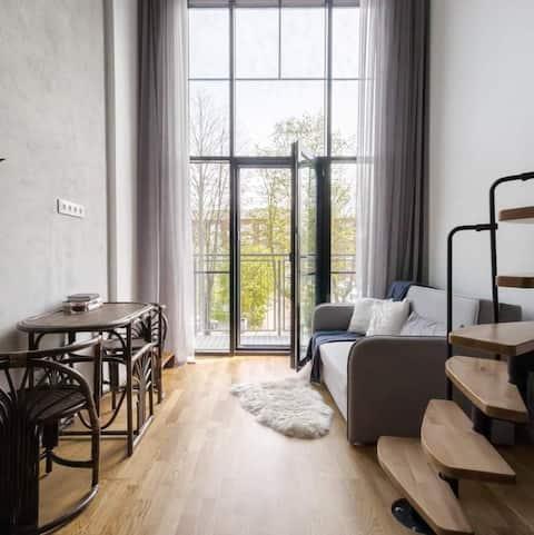 Loft Apartment next to Klaipeda Old Town