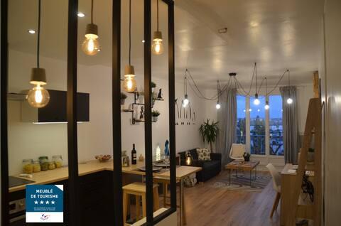 Appartement 4 étoiles, calme, avec vue imprenable