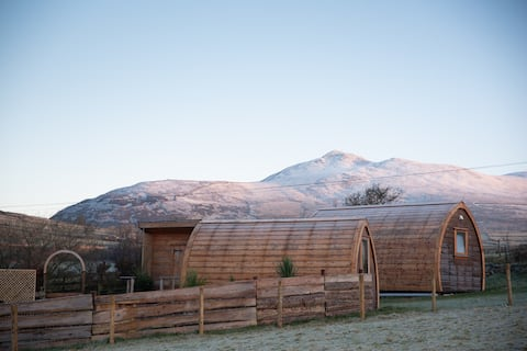 Glamping Pod with Stunning Mountain and Sea Views