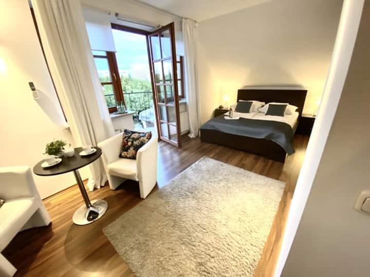 Przytulny pokój Premium z łóżkiem queensize