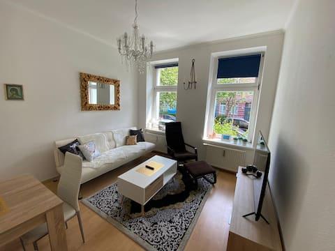 静かな2ルームアパート-ロストックのトレンディな地区
