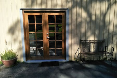 Double French doors both can be opened