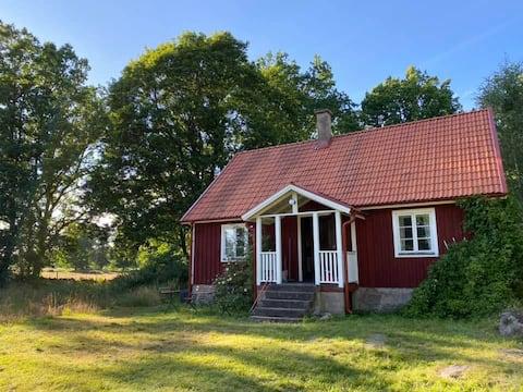 Uroczy domek z naturą w pobliżu