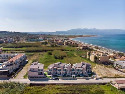 Aegean Breeze Deluxe Apartment à côté de la plage