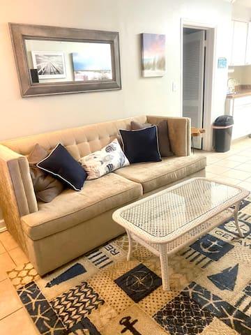 Sleeper Sofa in Living Room, Queen Size