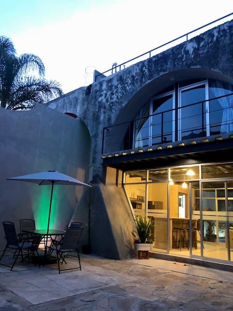 Casa con alberca dentro de ex Hacienda en Atlixco